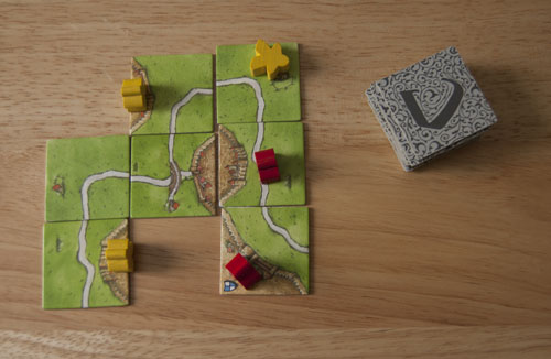 Carcassonne tiles are square